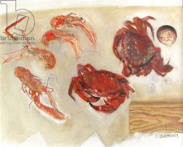 Crayfish, Crabs and Shell, 2008 (oil on canvas)