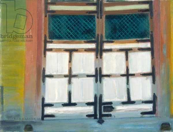 Japanese Gateway (oil on canvas)