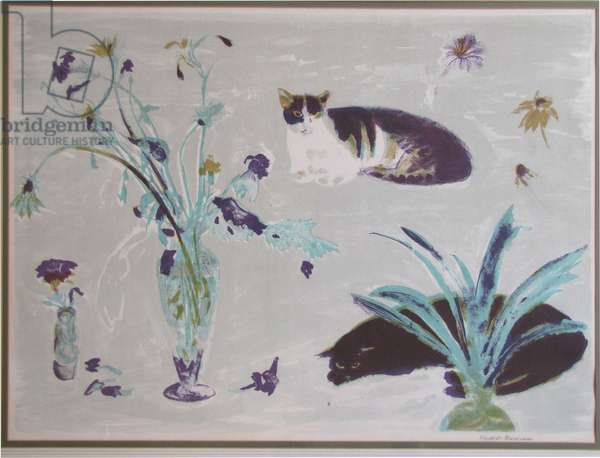 Still Life with Cat (litho)
