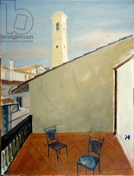 Balcony, Florence (oil on canvas)