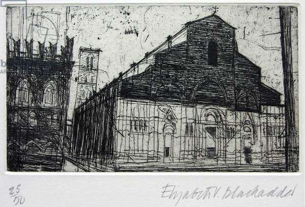 Duomo San Petronio, Bologna (etching)
