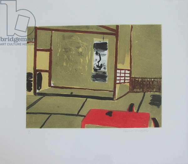 Japanese Interior (carborundum print)