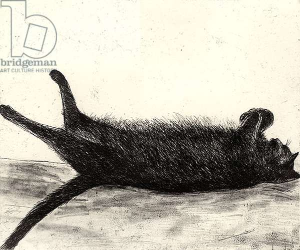 Amalia Sleeping, 2003 (etching)