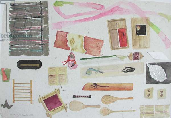 Japanese Still Life with Bamboo, 2004 (w/c on paper)