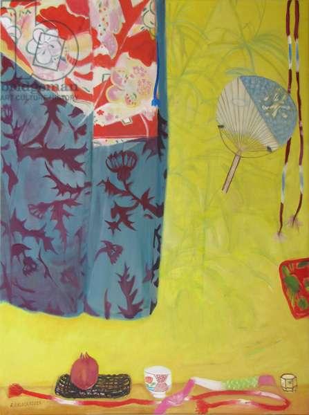 False Palm (Shadow) and Kimono (oil on canvas)