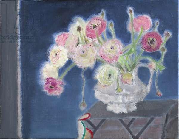 Ranunculus (oil on canvas)