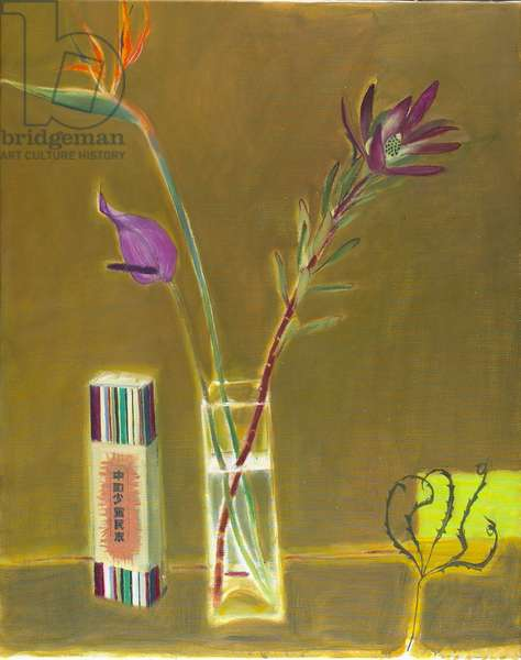 Strelitzia and Chinese Box, 2008 (oil on canvas)