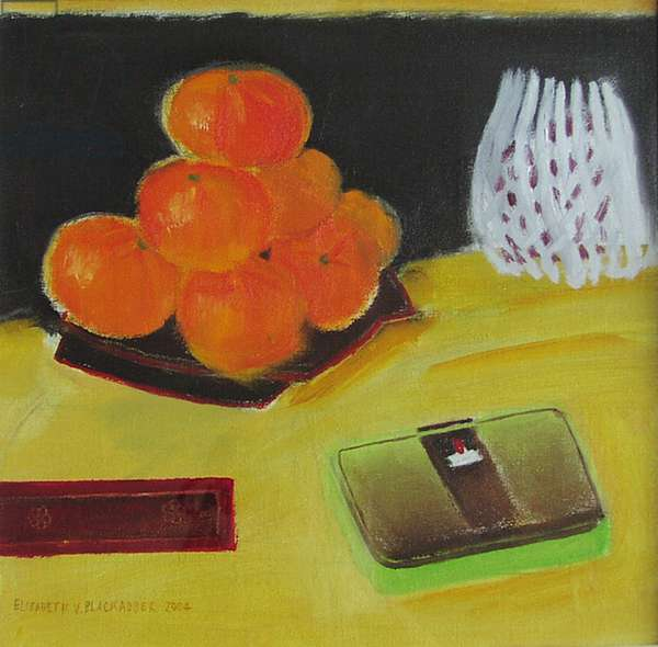 Clementines and Pomegranate (oil on canvas)