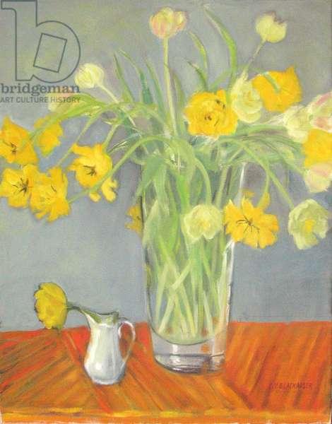 Tulips, 2008 (oil on canvas)