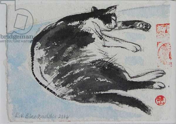 Sleeping Cat, 2004 (w/c on paper)