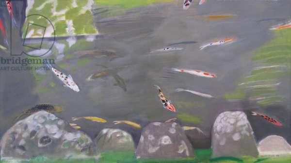 Koi Carp, Chion Ni, Kyoto (oil on canvas)
