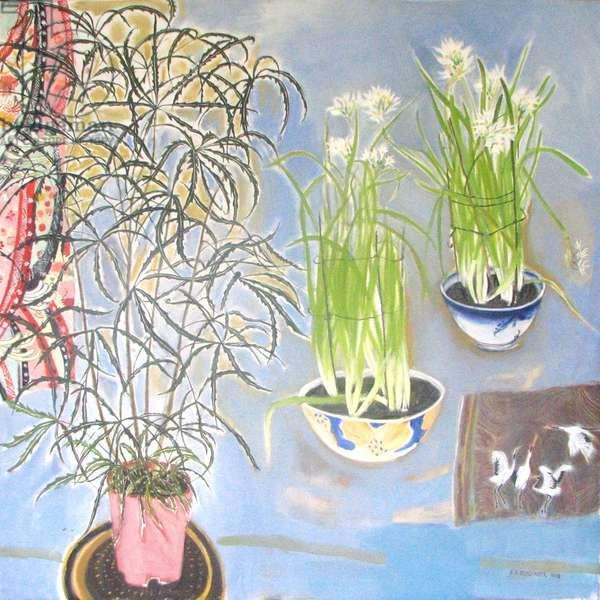 Spring Bulbs - False Palm, 2008 (oil on canvas)
