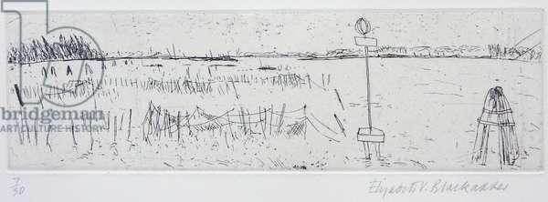 Fishing Nets, Burano, 1996 (etching)