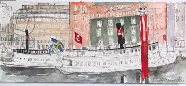 Boats, Stockholm, 2008 (w/c on paper)