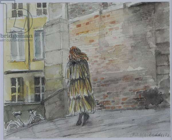 Cold day, Palma (w/c on paper)
