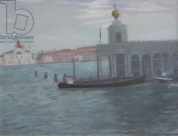 Dogana, Venice (oil on canvas)