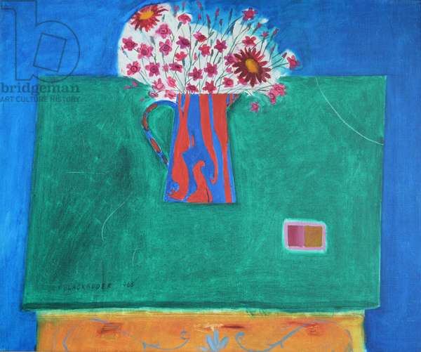 Flowers in a Jug, 1968 (oil on cavas)