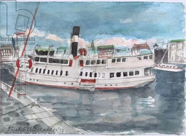 Steam Boat, Stockholm, 2007 (w/c on paper)