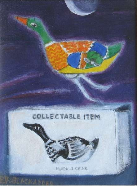 A Collectable Item (oil on canvas board)