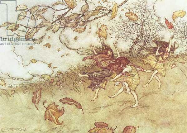 """""""Autumn Fairies"""" from 'Peter Pan in Kensington Gardens' by J.M. Barrie, 1906"""