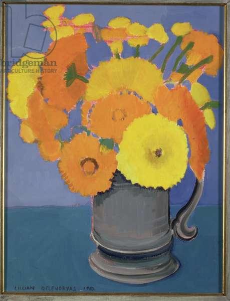 Orange Flowers in a tankard