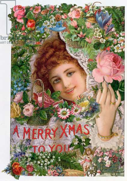 Victorian montage Christmas card