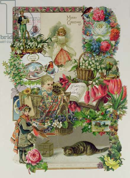 With my Best wishes for the Coming Year, Victorian Montage