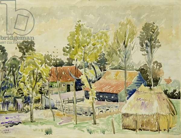 Dutch Farmhouse (w/c on paper)