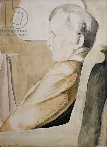 Portrait of Claude Flight (w/c on paper)