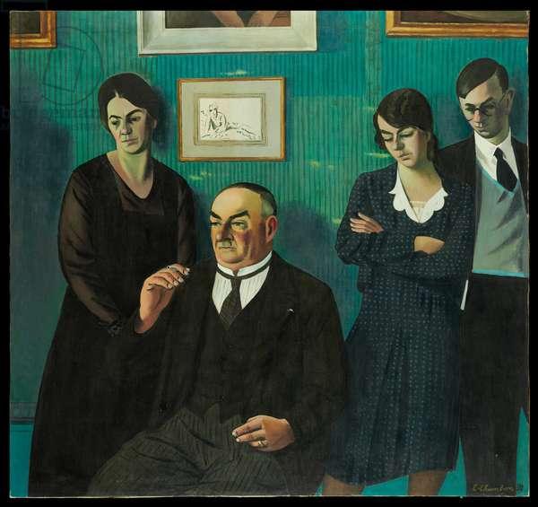 Portrait de la famille Chambon, 1931 (oil on canvas)