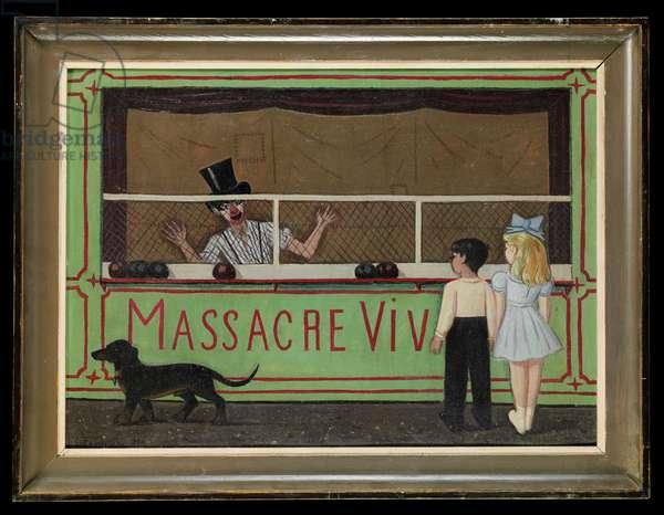 Massacre Vivant, 1951 (oil on cardboard)