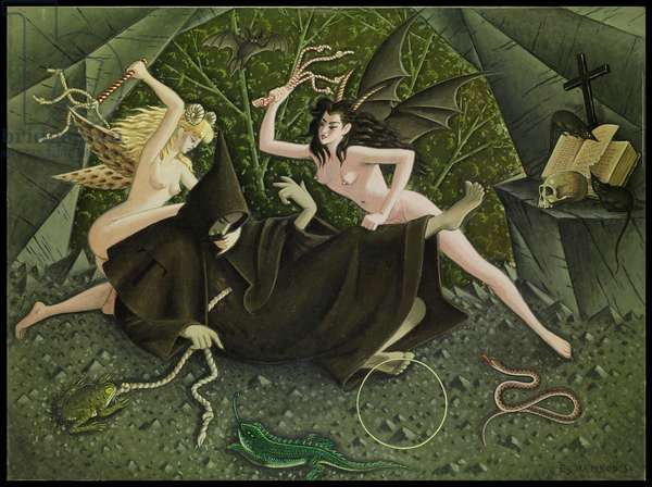 Saint Antoine trourmenté par les démons, 1954 (oil on canvas)