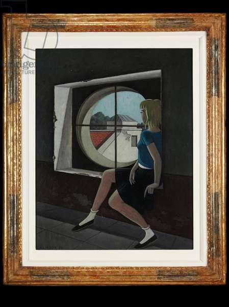 Bull's Eye, 1956 (oil on canvas)