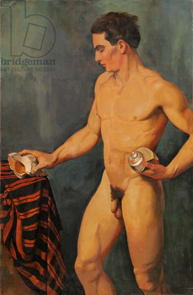 Nude Man with Shells, 1927 (oil on canvas)