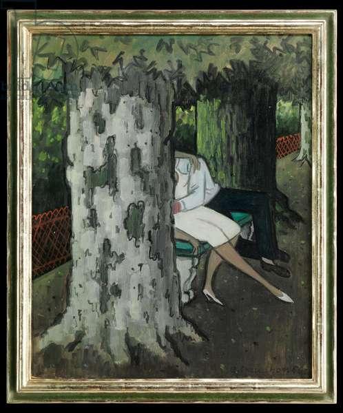 Les amoureux, 1956 (oil on cardboard)