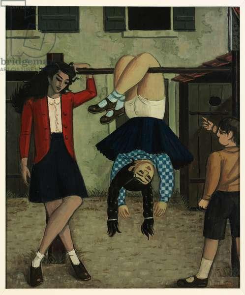The Bar, 1950 (oil on cardboard)