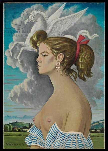 Portrait of Pegasus (Nelly B.), 1954 (oil on canvas)