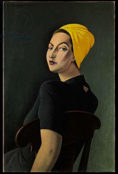 Portrait au turban jaune, 1950 (oil on canvas)