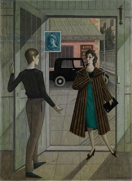 The Return from London, 1966 (oil on cardboard)