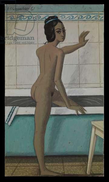Bathroom, 1961 (oil on cardboard)