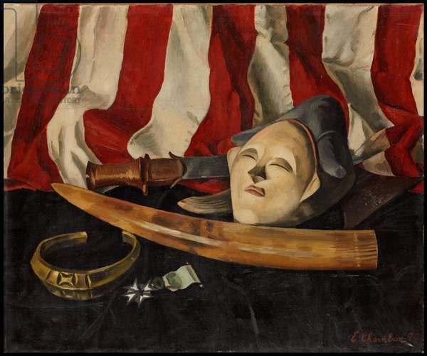 Le masque du Gabon, 1929 (oil on canvas)
