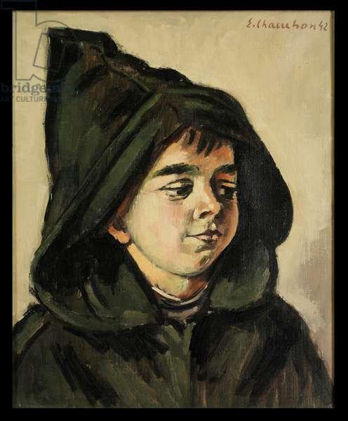 Boy in a Hood, 1942 (oil on canvas)