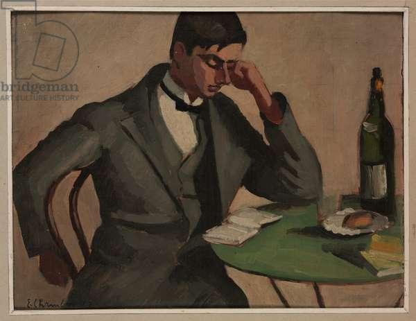 The Poet Henri Ferrare, 1927 (oil on cardboard)