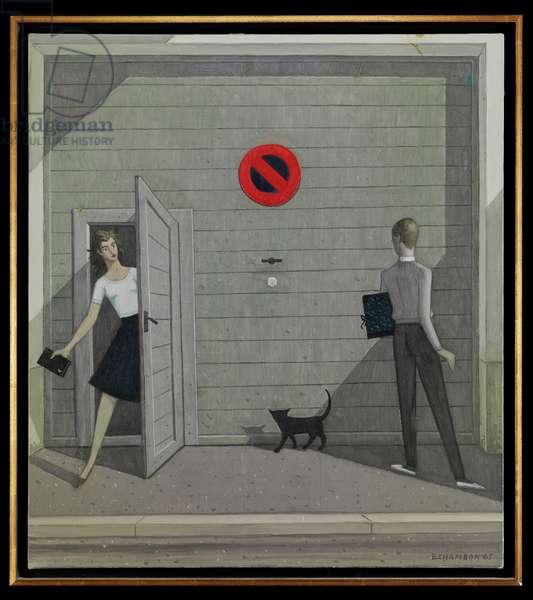 Surprise Encounter, 1973 (oil on canvas)
