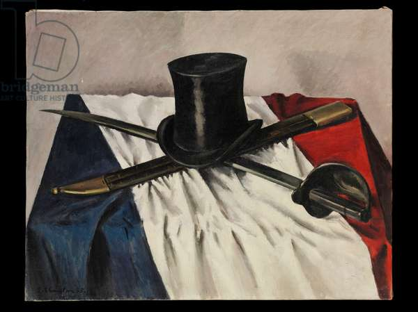 Top Hat and Sword, 1935 (oil on canvas)