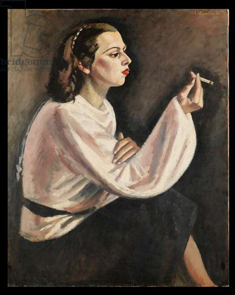 Woman with a Cigarette, 1936 (oil on canvas)