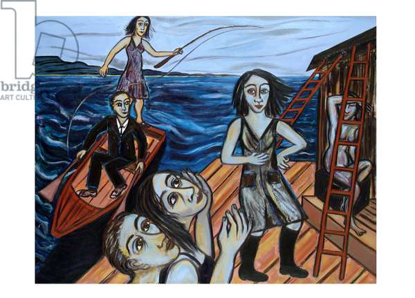 The Following Sea, 2006 (oil on canvas)