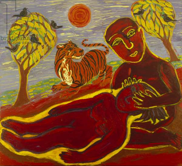 The Healer, 1989-90 (oil on canvas)