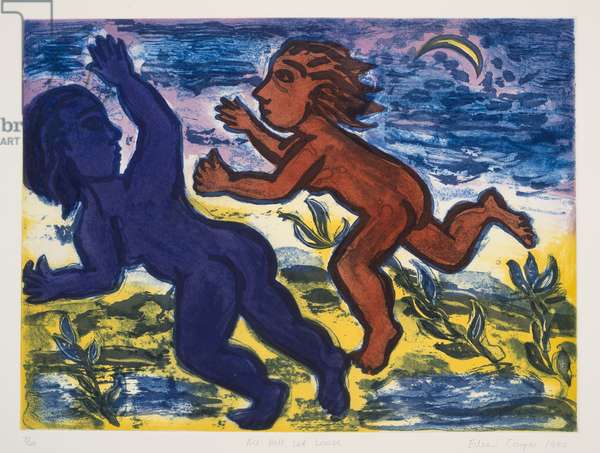 All Hell Let Loose, 1990 (colour etching)