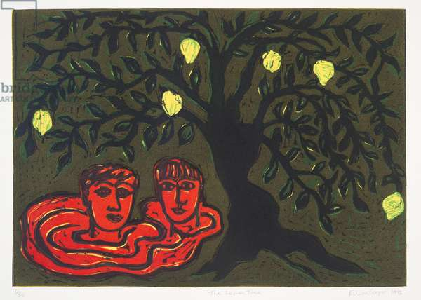 The Lemon Tree, 1992 (linocut)